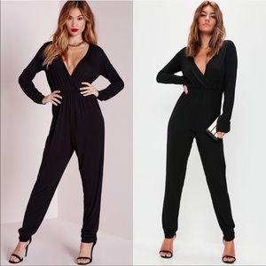 Pants - Women's black pants kong romper jumpsuit